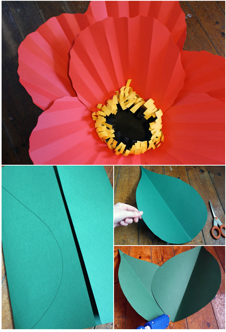 how to make a hibiscus flower out of construction paper