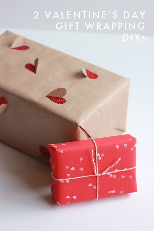 2 simple valentine 39 s day gift wrapping ideas the house for Cute valentines day gifts for men