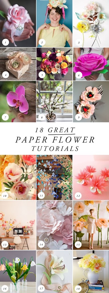 18 more best paper flower tutorials the house that lars built 18 more best paper flower tutorials mightylinksfo