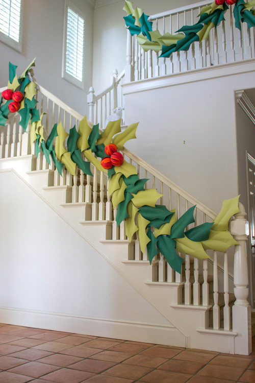 Oversized Holly Berry Paper Garland The House That
