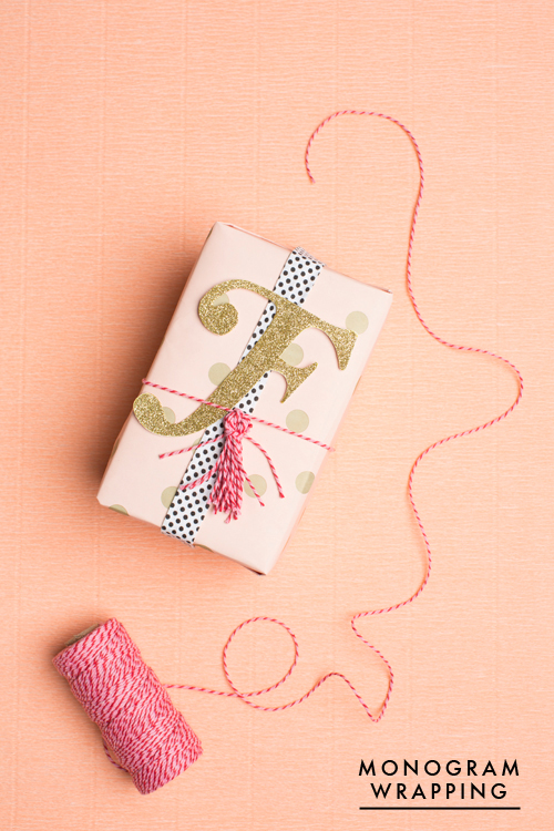 Monogram gold tag for a gift