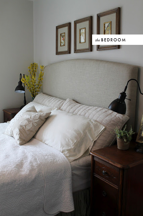 linen headboard tutorial