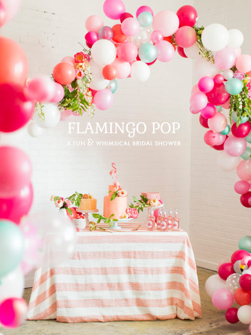 Flamingo Pop: a fun & whimsical bridal shower collaboration with BHLDN and The House that Lars Built . Photo by Jessica Peterson.