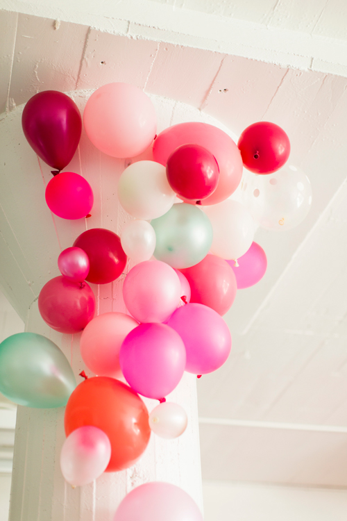 Flamingo Pop. A bridal collaboration with BHLDN and The House That Lars Built. Balloon installation by Brittany Watson Jepsen. Balloons provided by Zurchers Party store. Photo by Jessica Peterson.
