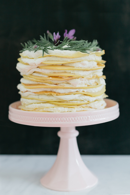 No sugar lavender honey crepe cake recipe