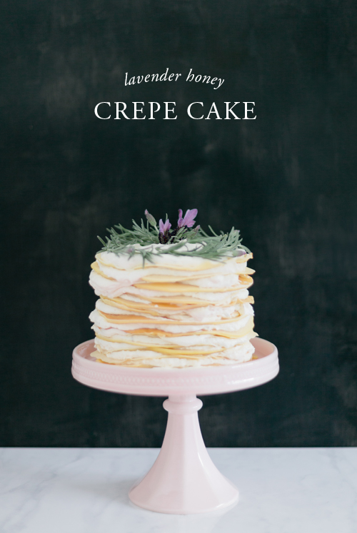 No sugar lavender honey crepe cake
