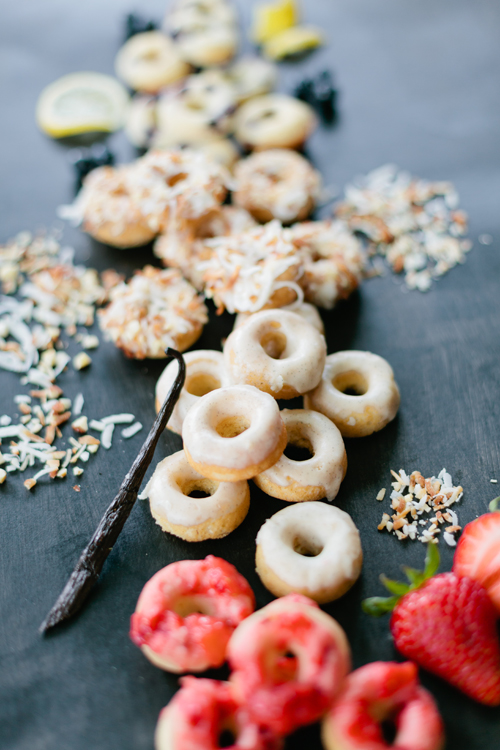 mini baked donuts with no sugar