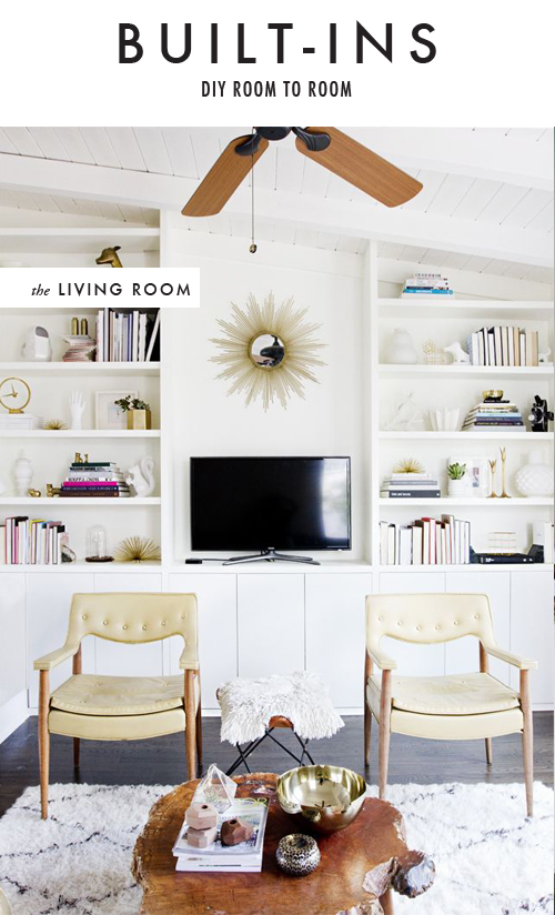 DIY built-ins for living room