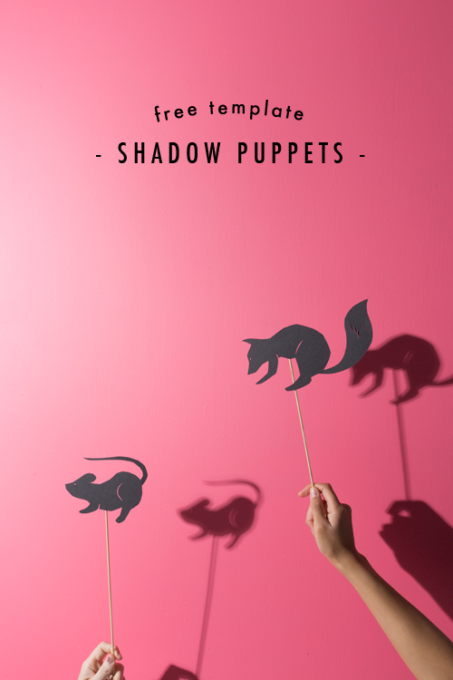 Shadow puppets & Cricut template - The House That Lars Built