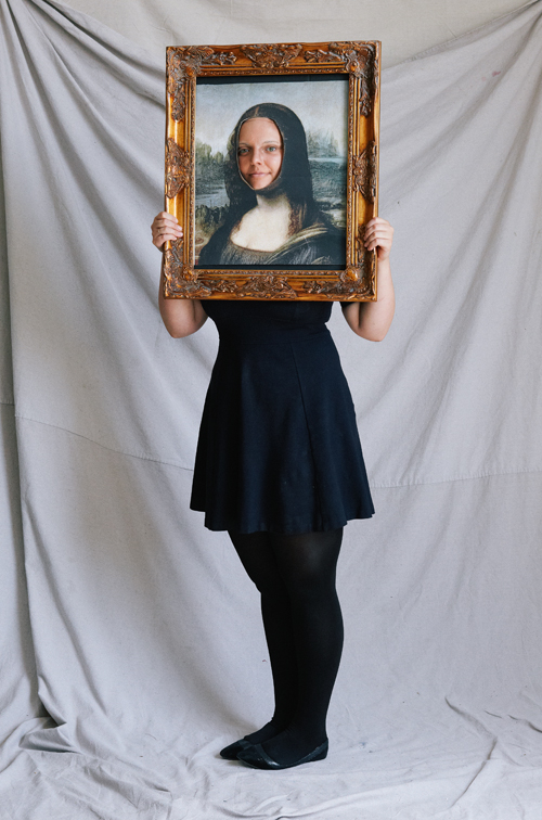 Costume de bricolage Mona Lisa Halloween