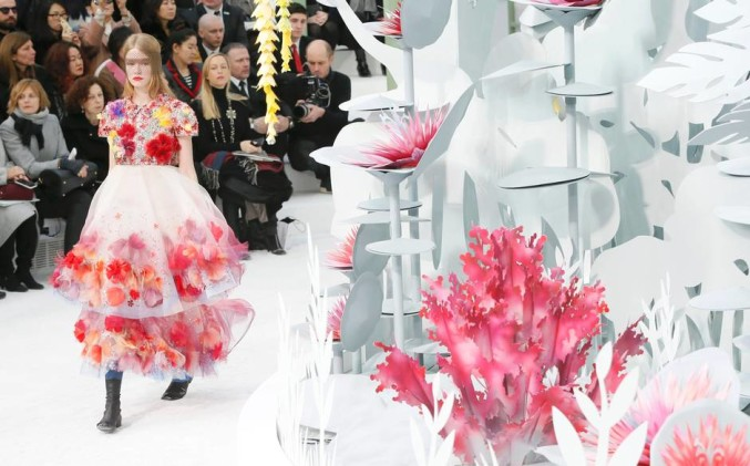 botanical garden Chanel couture spring 2015