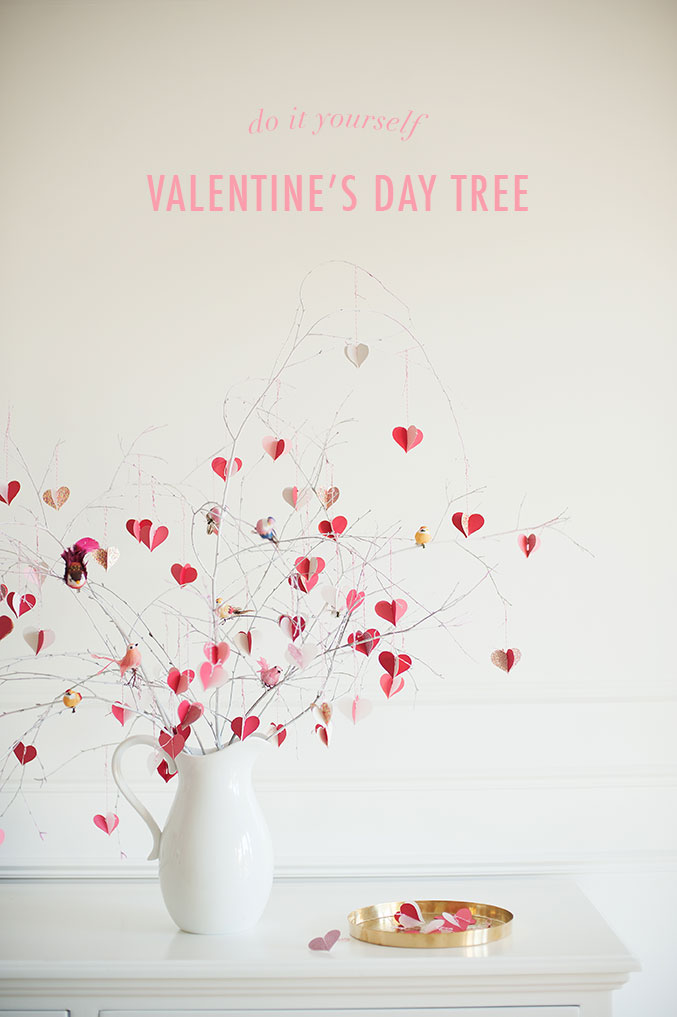 Diy valentine 39 s day branch tree the house that lars built for Deco saint valentin