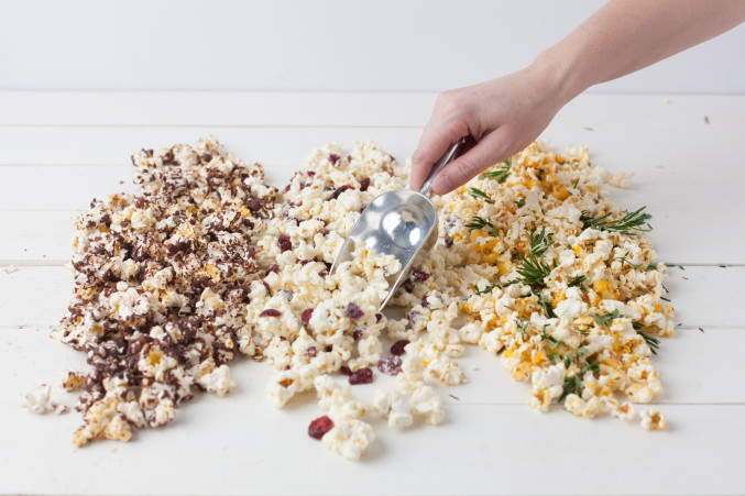cheese and rosemary popcorn