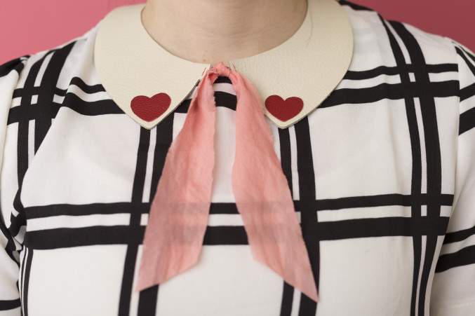 Valentine's Day leather collar