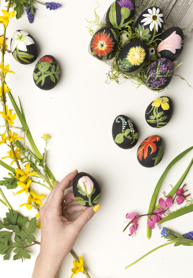 botanical easter eggs