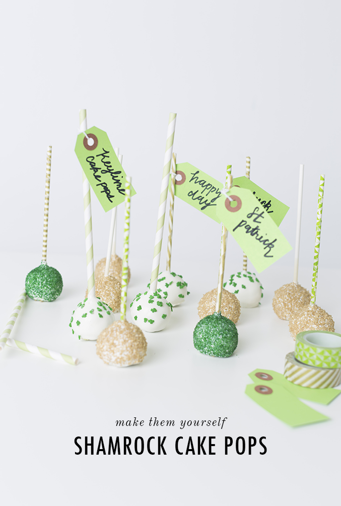 Shamrock cake pops for St. Patrick's Day