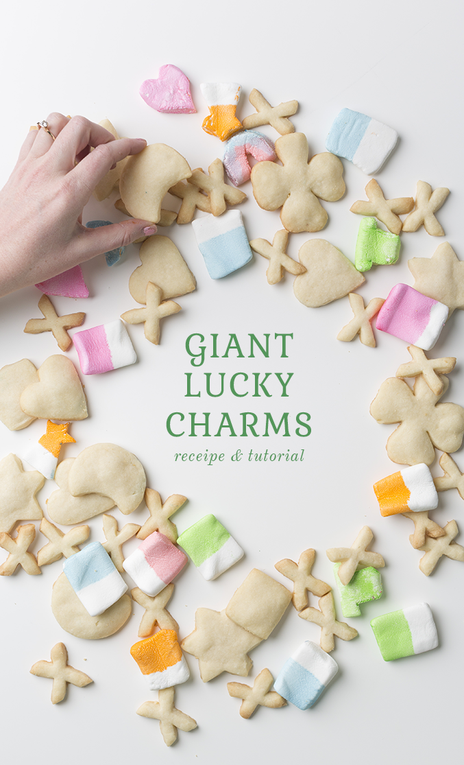 Giant lucky charms tutorial and recipe