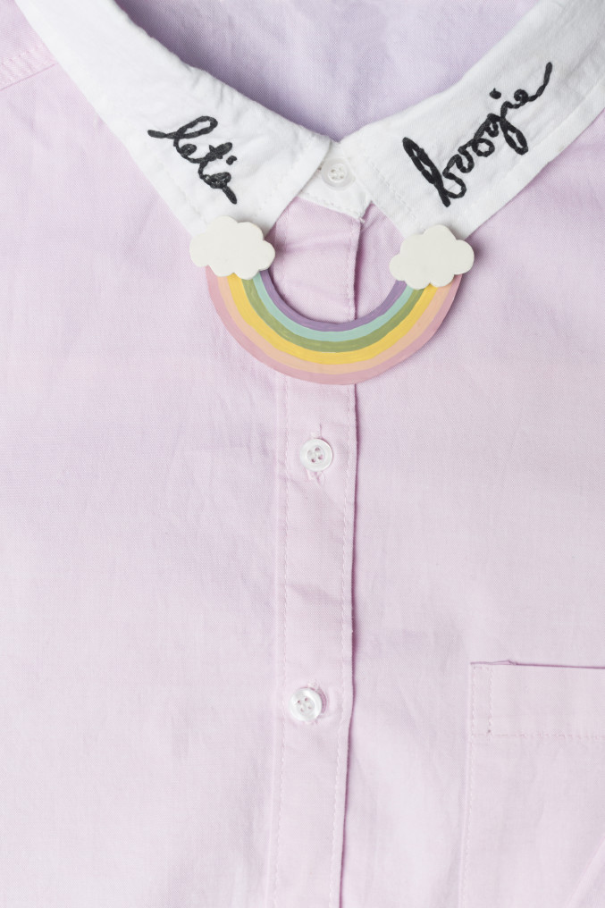 DIY Rainbow Collar