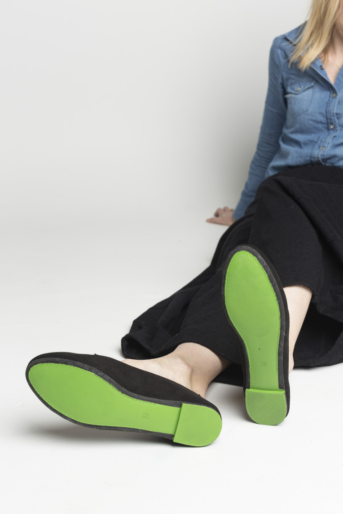 DIY Green Shoes for St. Patrick's Day