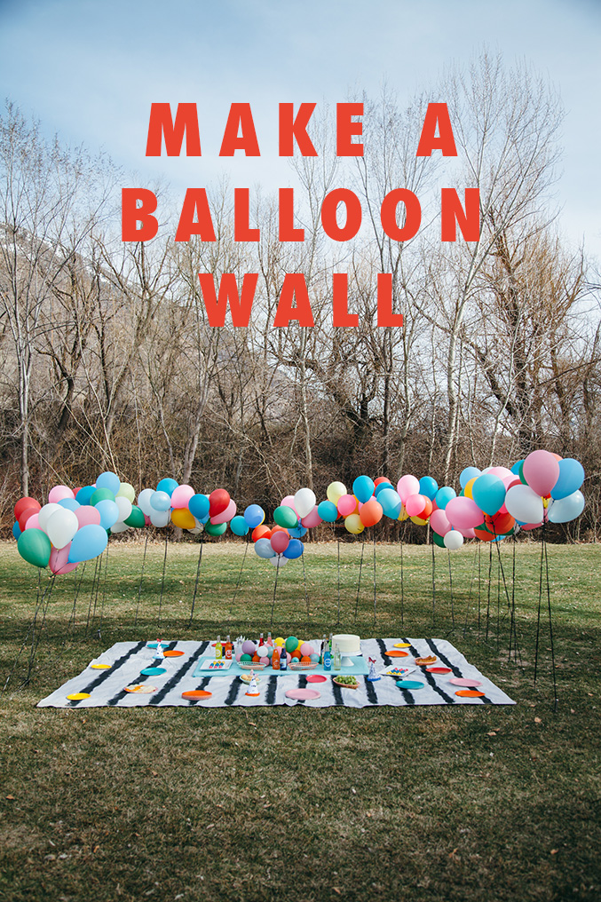 Make a balloon wall