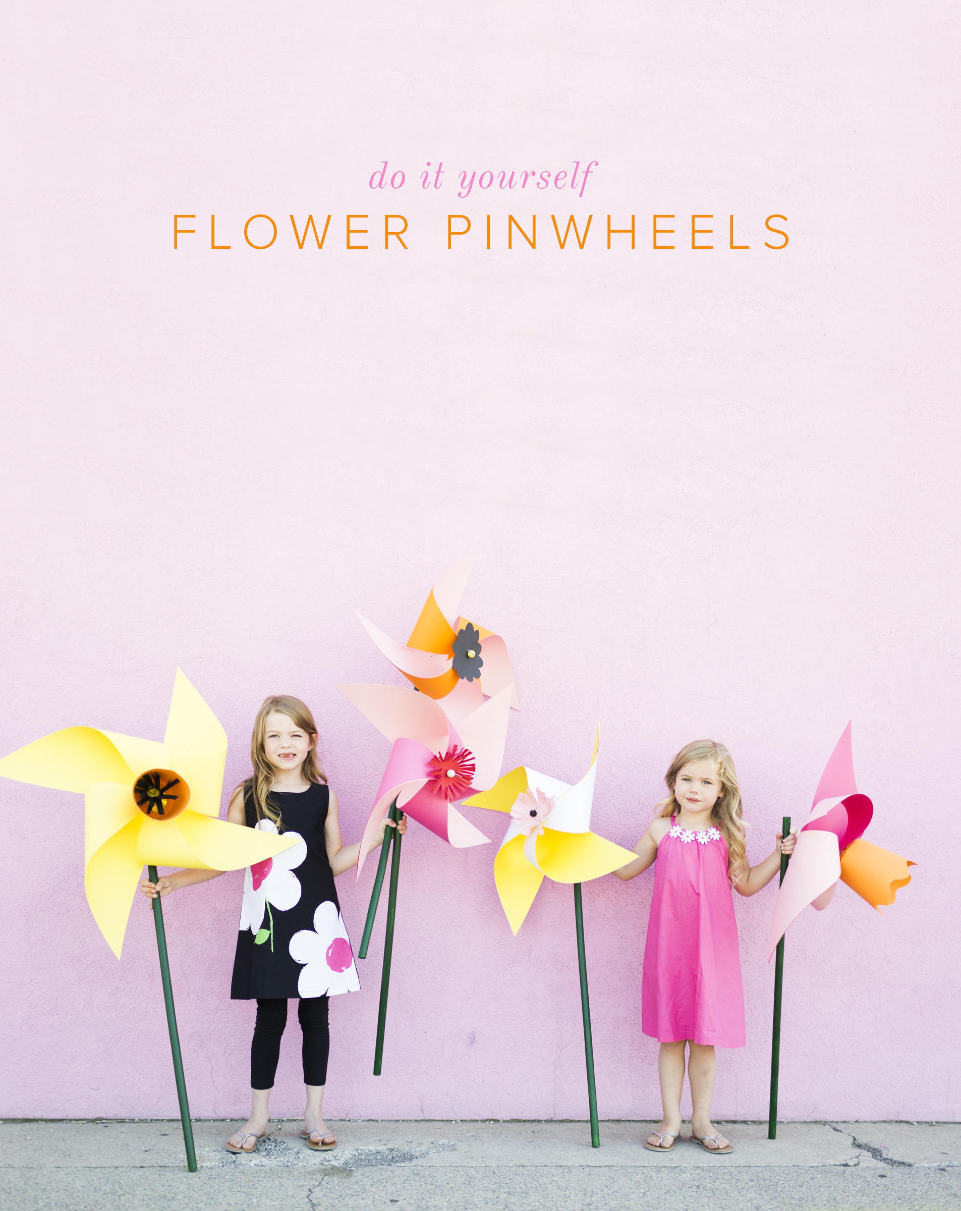 diy flower pinwheels