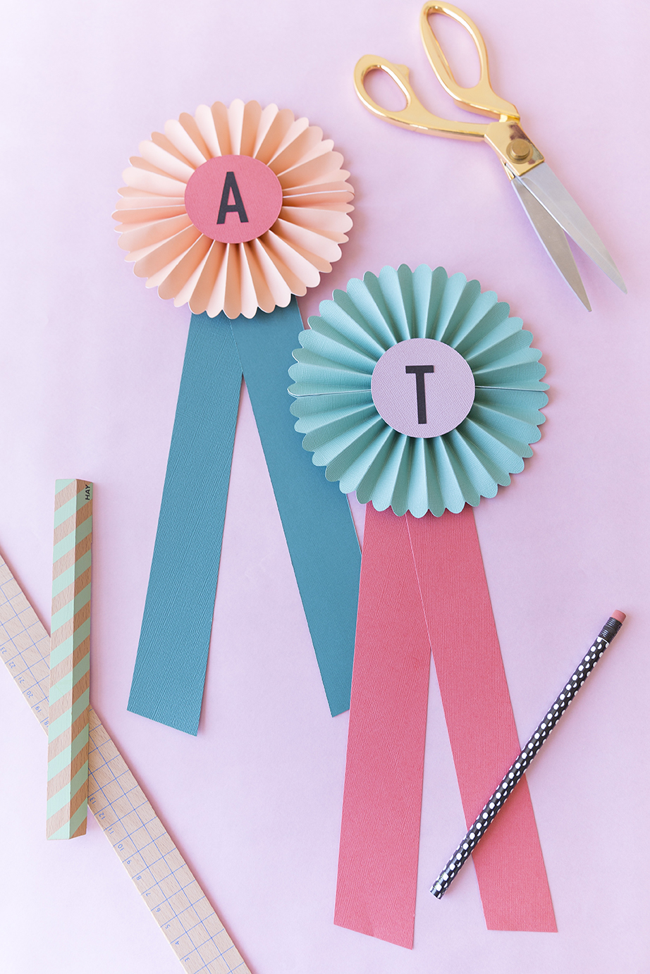 Paper prize ribbon DIY