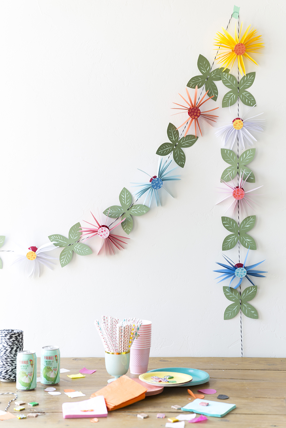 Paper flower garland mightylinksfo