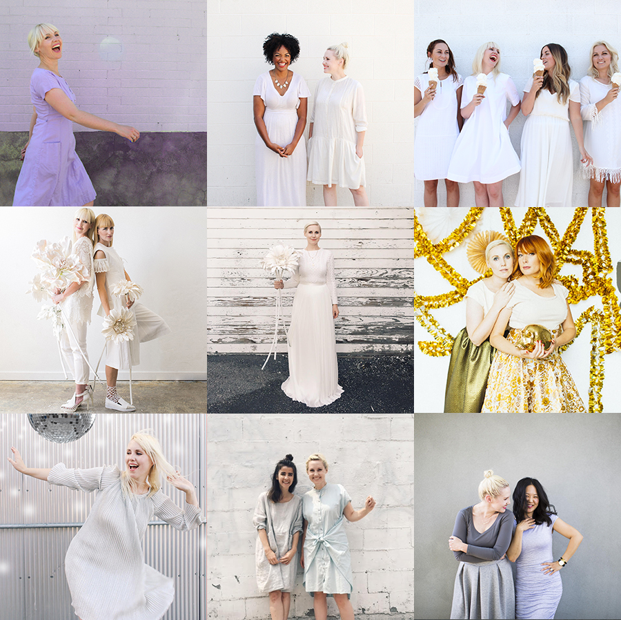 whites and greys of Dress the Rainbow