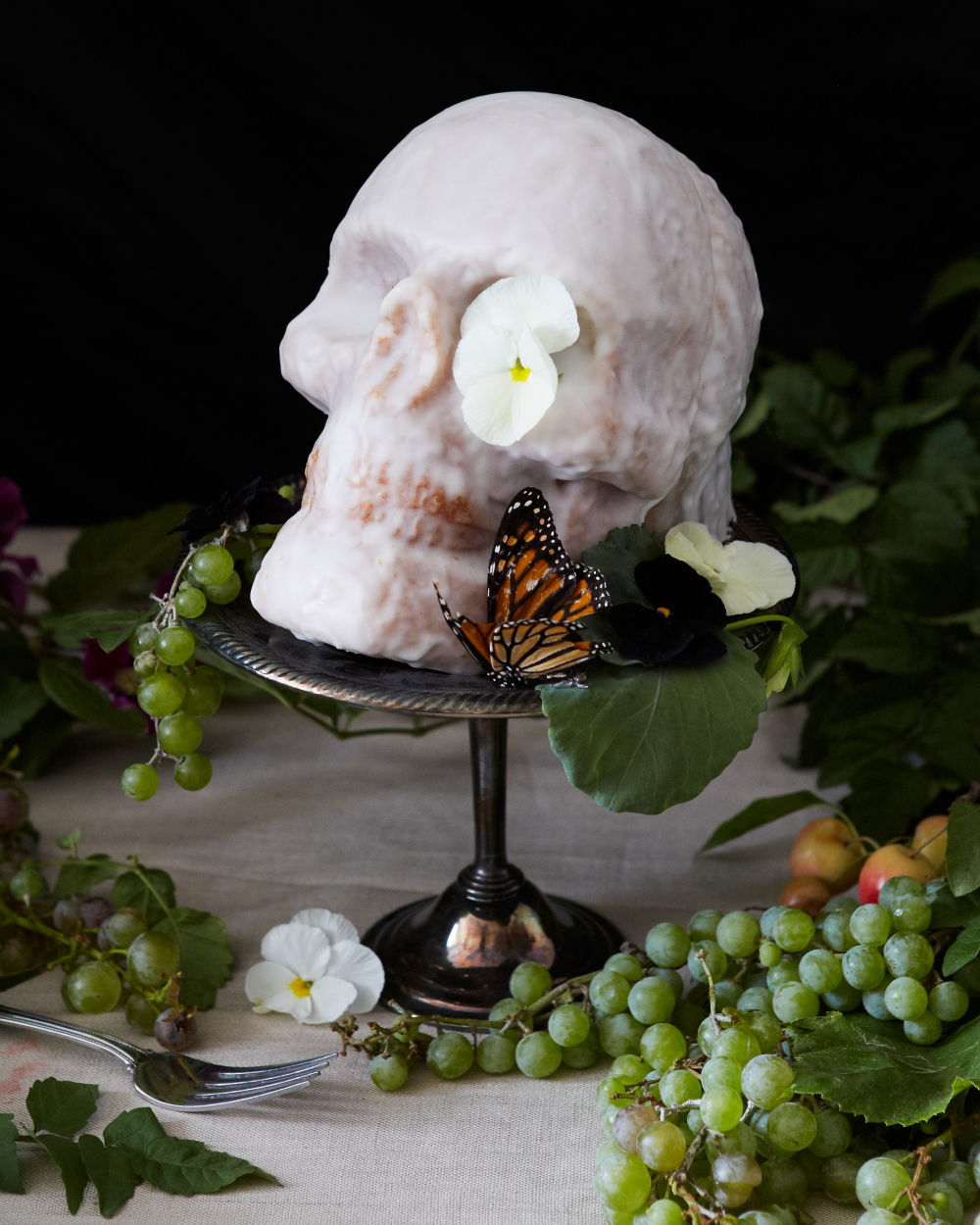Awesome Halloween Skull Cake
