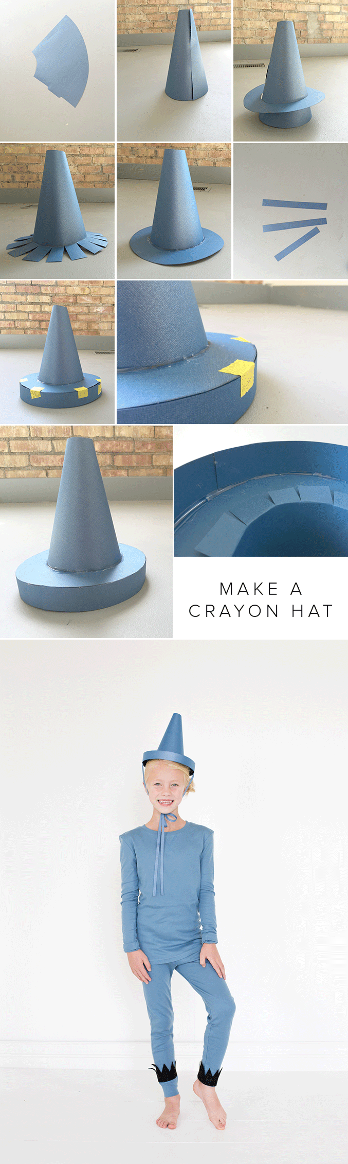 CRAYON-HAT-TUTORIAL & The Day the Crayons Quit costumes