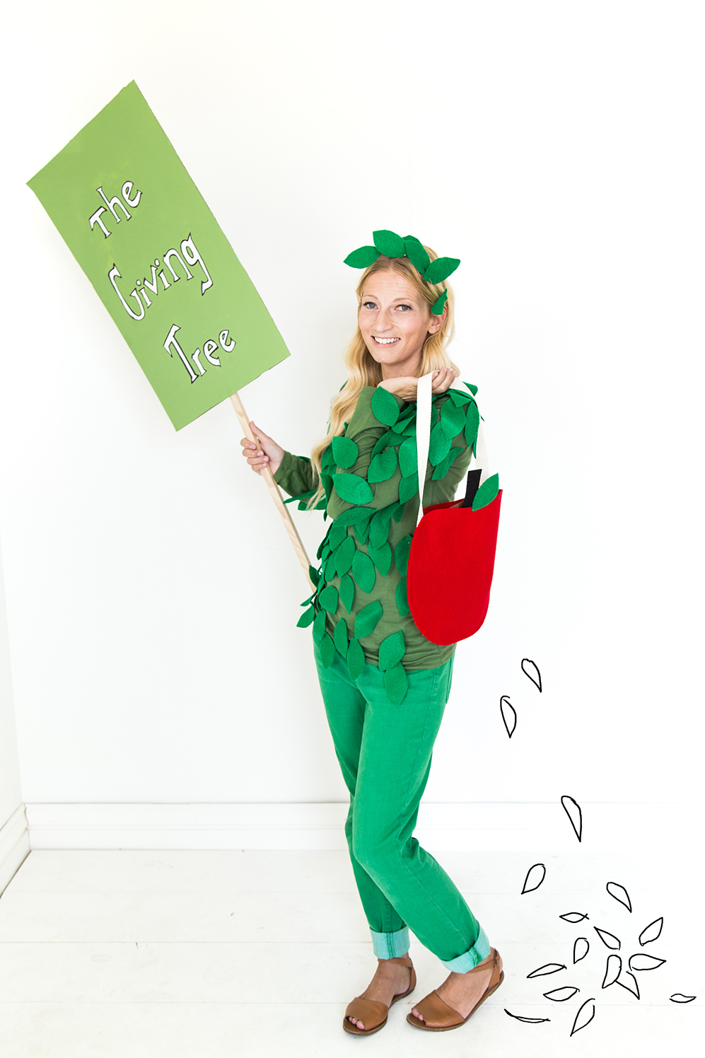 the giving tree halloween costumes for parent and child along with a coordinating trick or - Apple Halloween Costumes