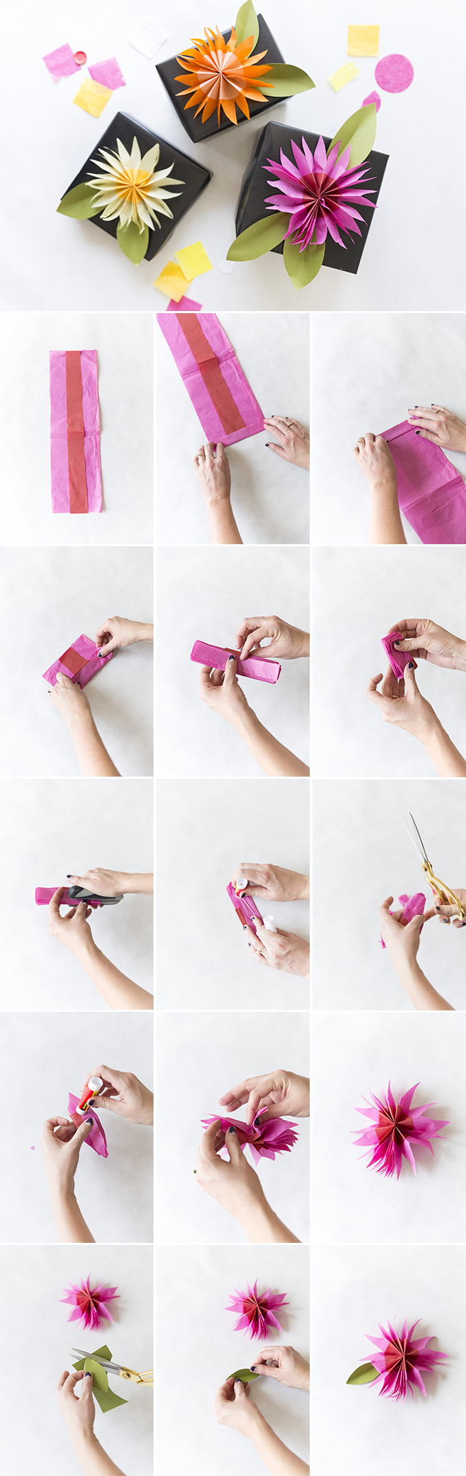 tissue paper flower diy