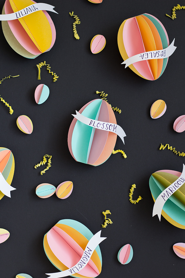 3d Easter Egg Name Tags Page 2 Of 2 The House That