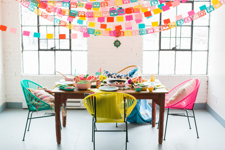 Cinco de Mayo Dinner Party Papel Picado