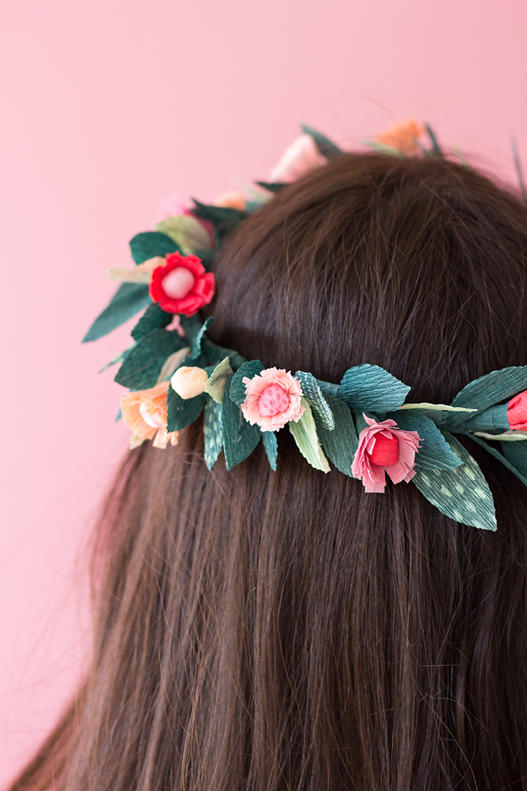 Diy paper spring floral crown the house that lars built paper crown pretty floral crown floral crown diy izmirmasajfo