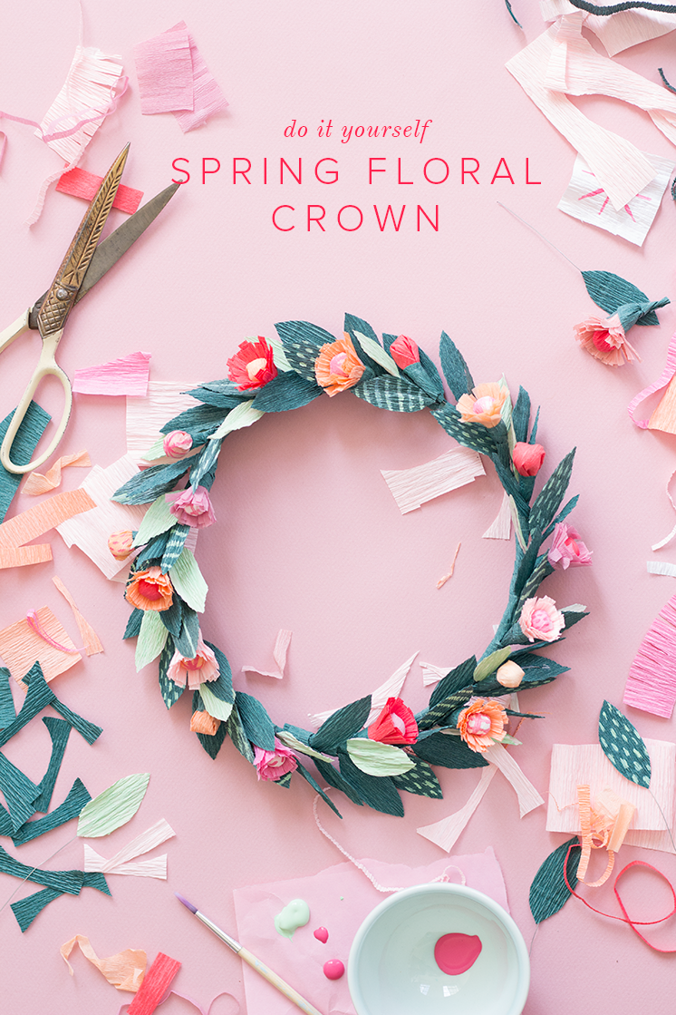 Diy paper spring floral crown the house that lars built diy paper spring floral crown izmirmasajfo Images