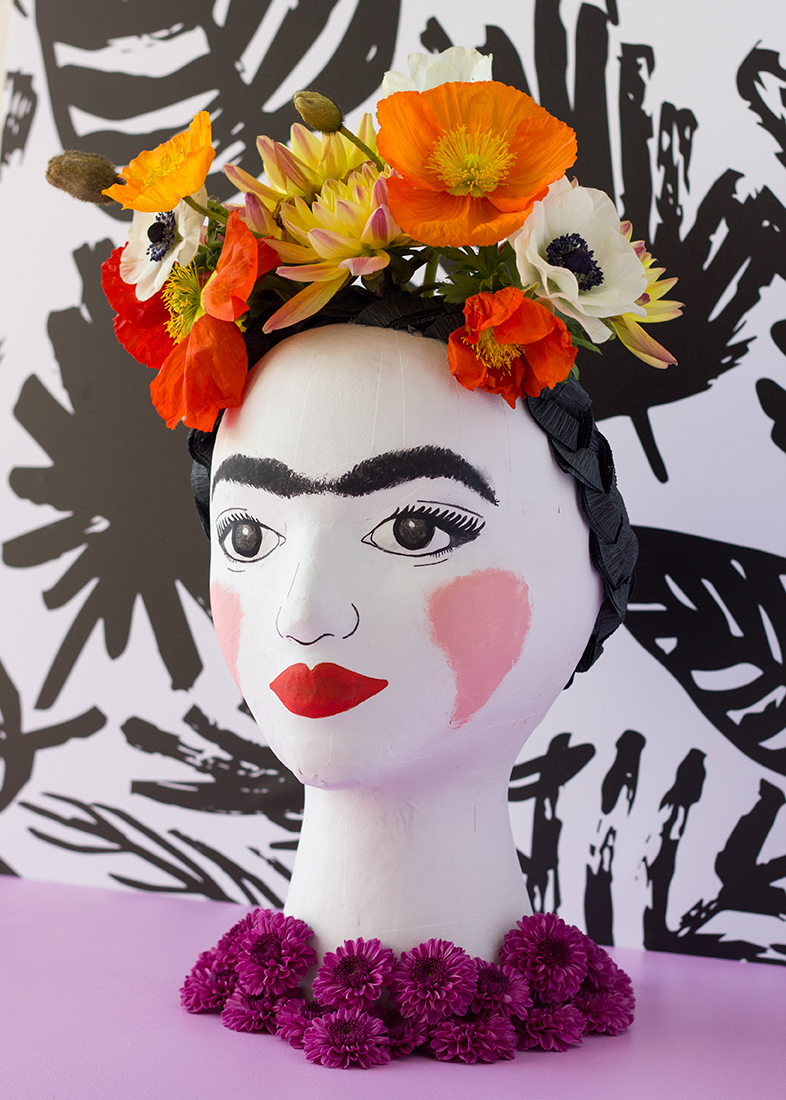 Diy Frida Kahlo Head Vase The House That Lars Built