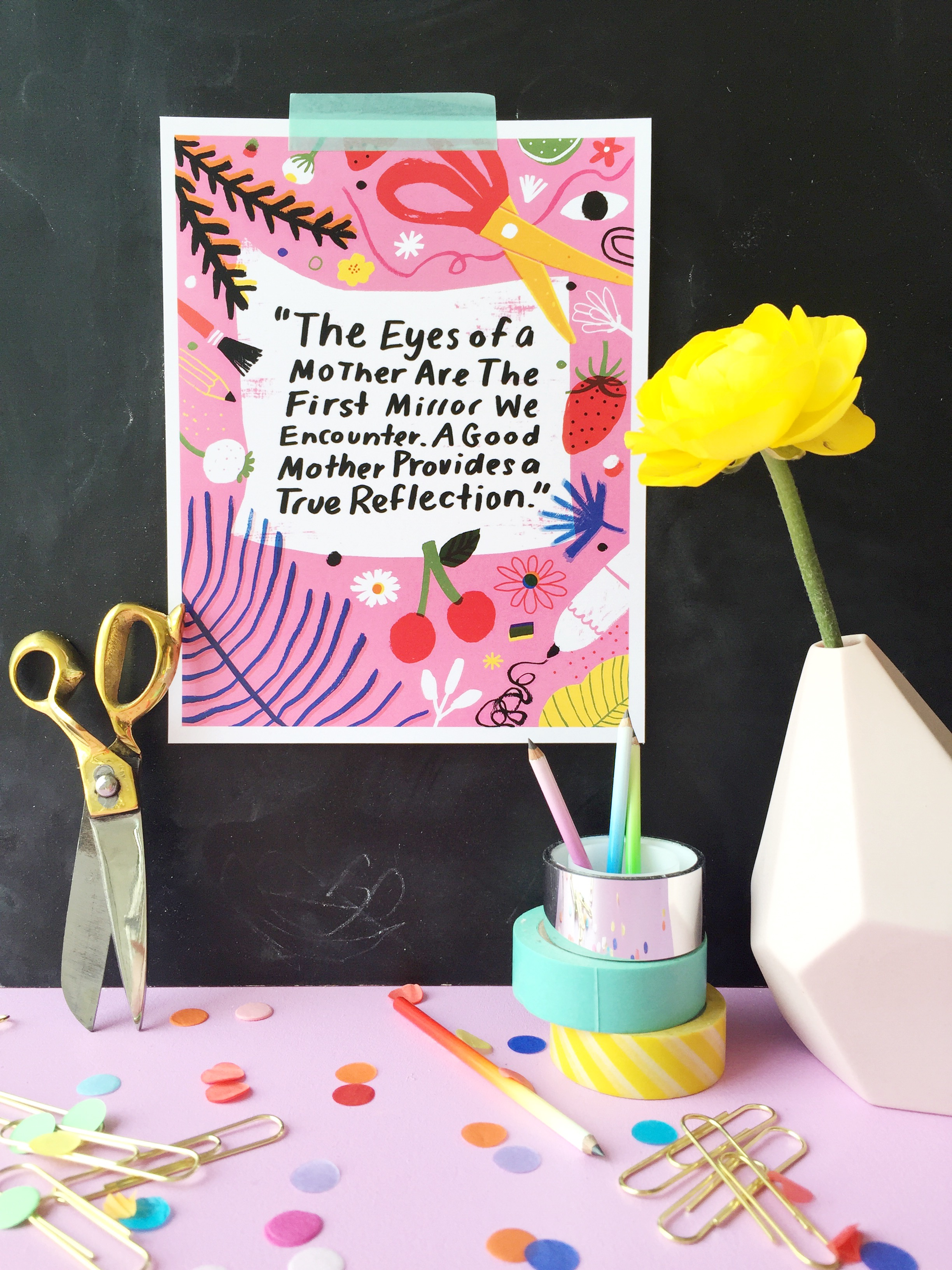 mother's day quote on The House That Lars Built illustrated by Jordan Sondler