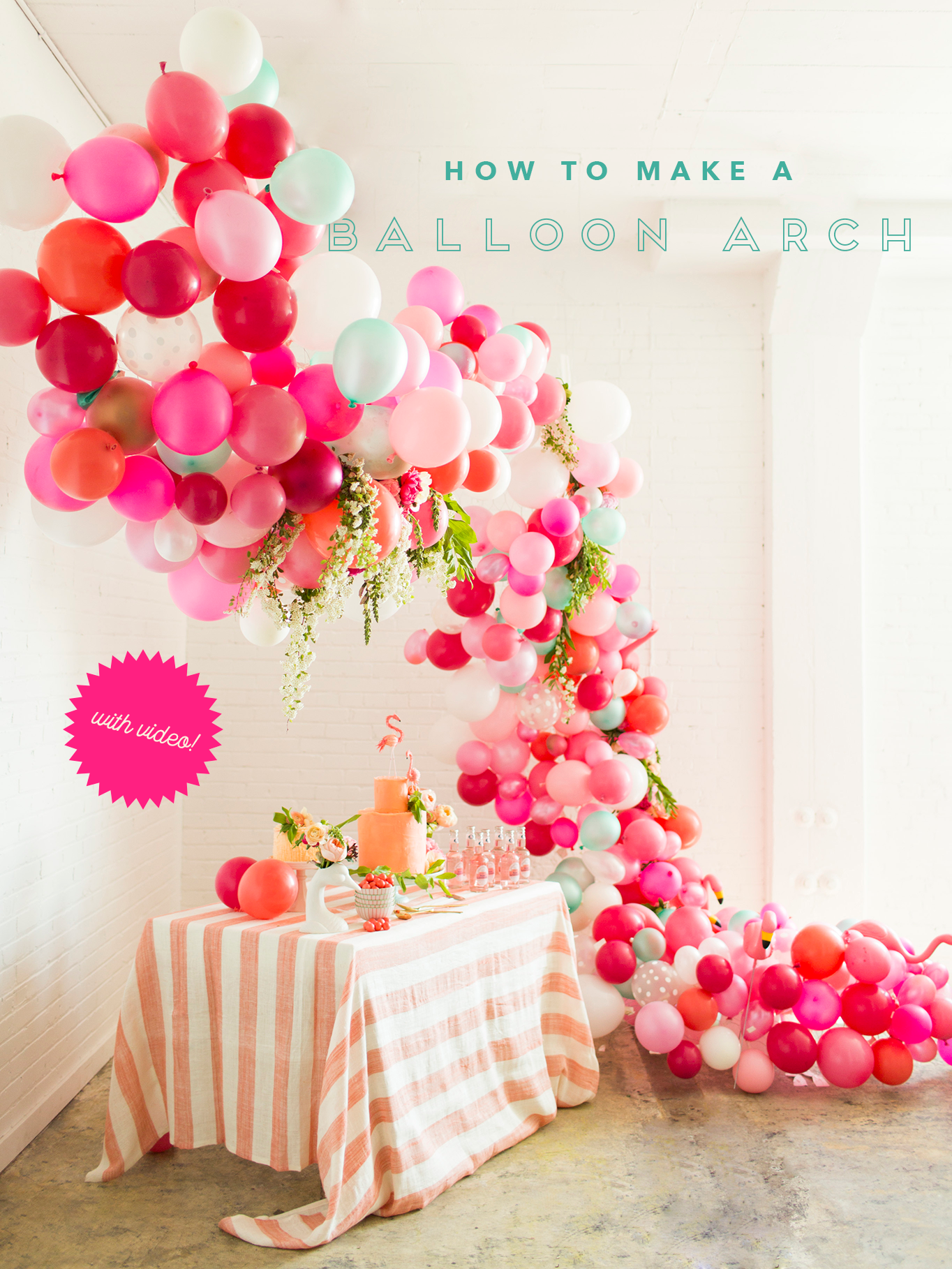 How to make a balloon arch video reader photos the for Arch balloons decoration