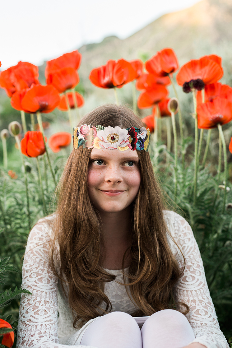 printable floral crown