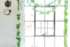 DIY green leaf paper garland