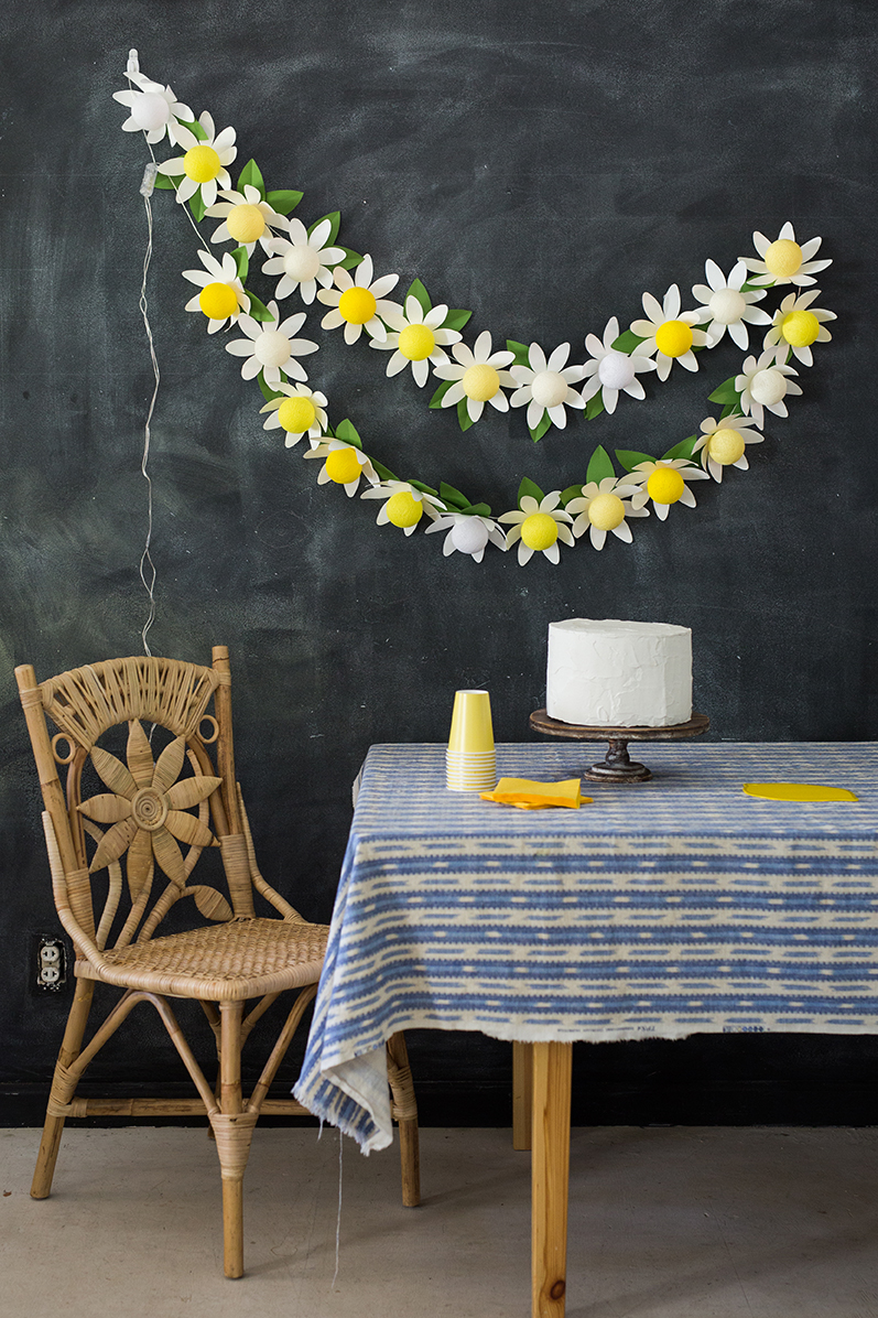 DIY paper daisy string light tutorial