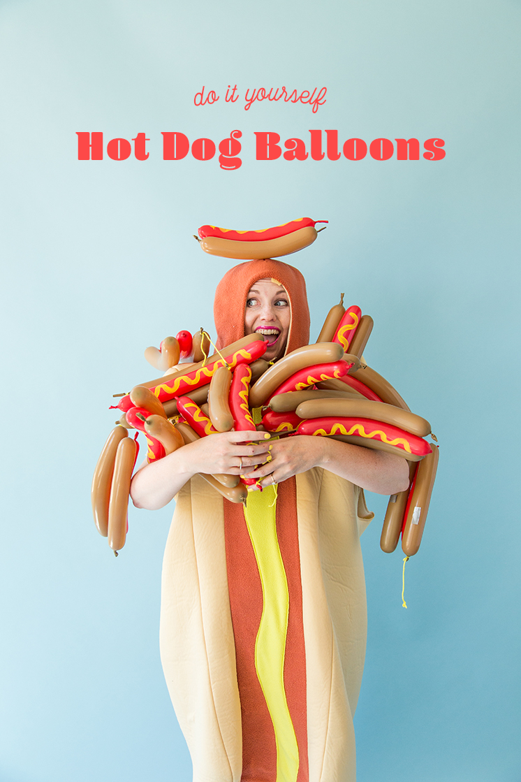DIY hot dog balloon
