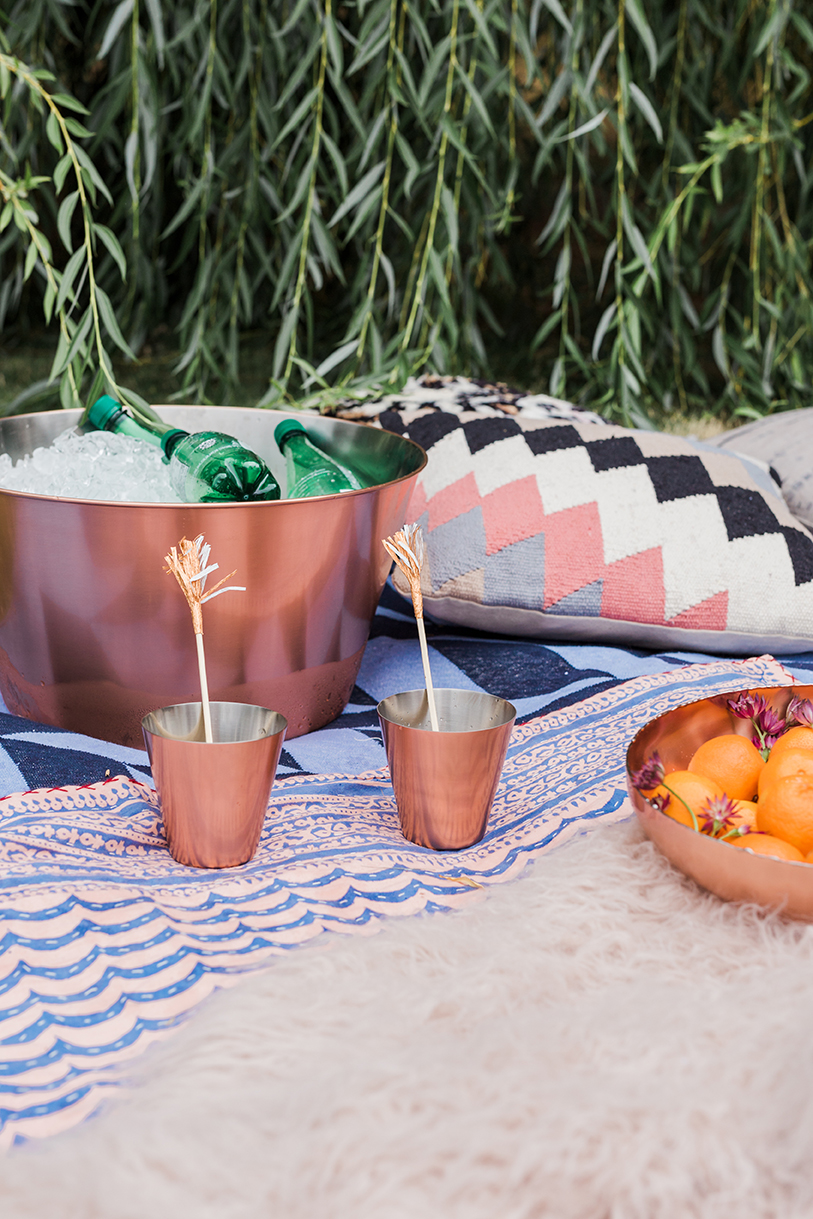 copper beverage tub