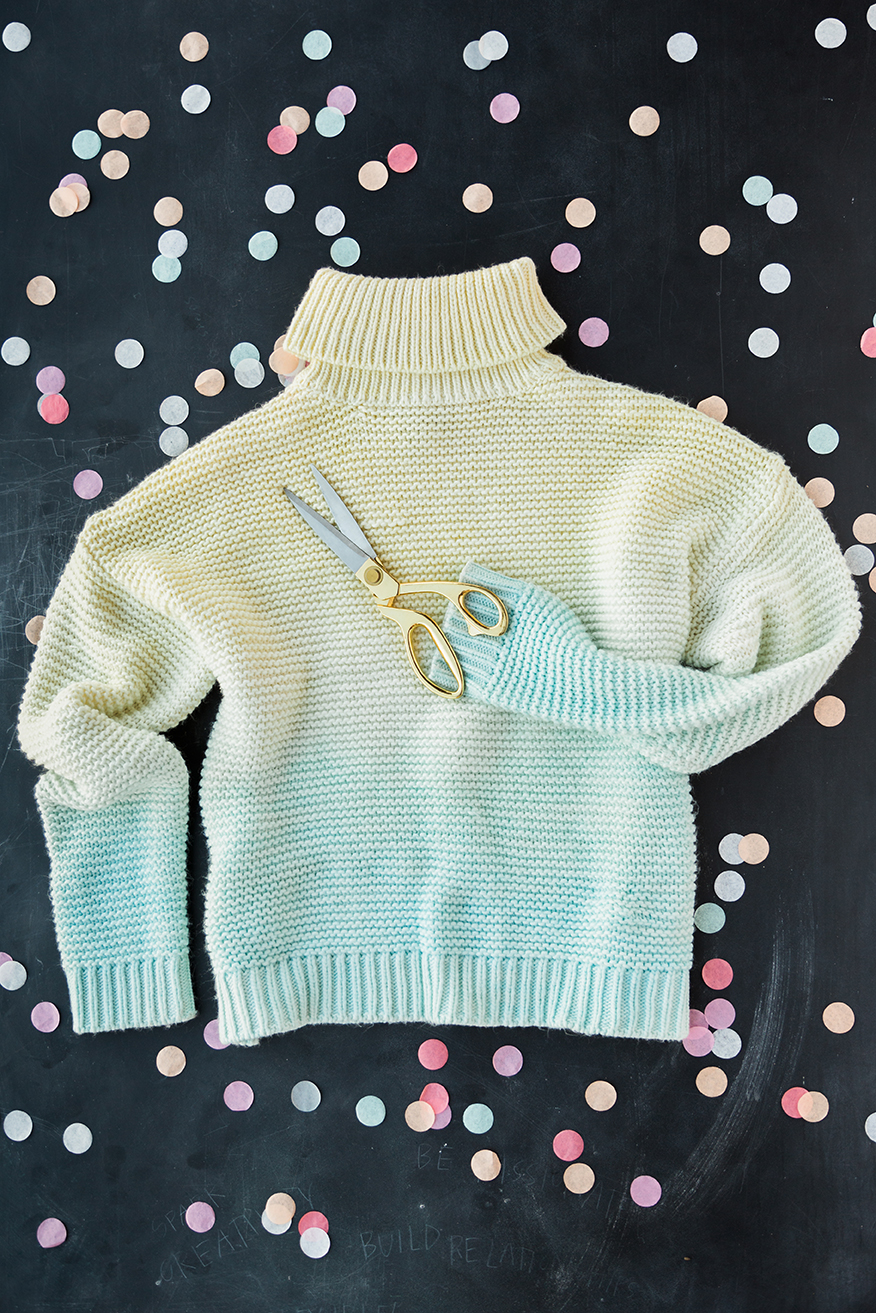 dip dye sweaters tutorial