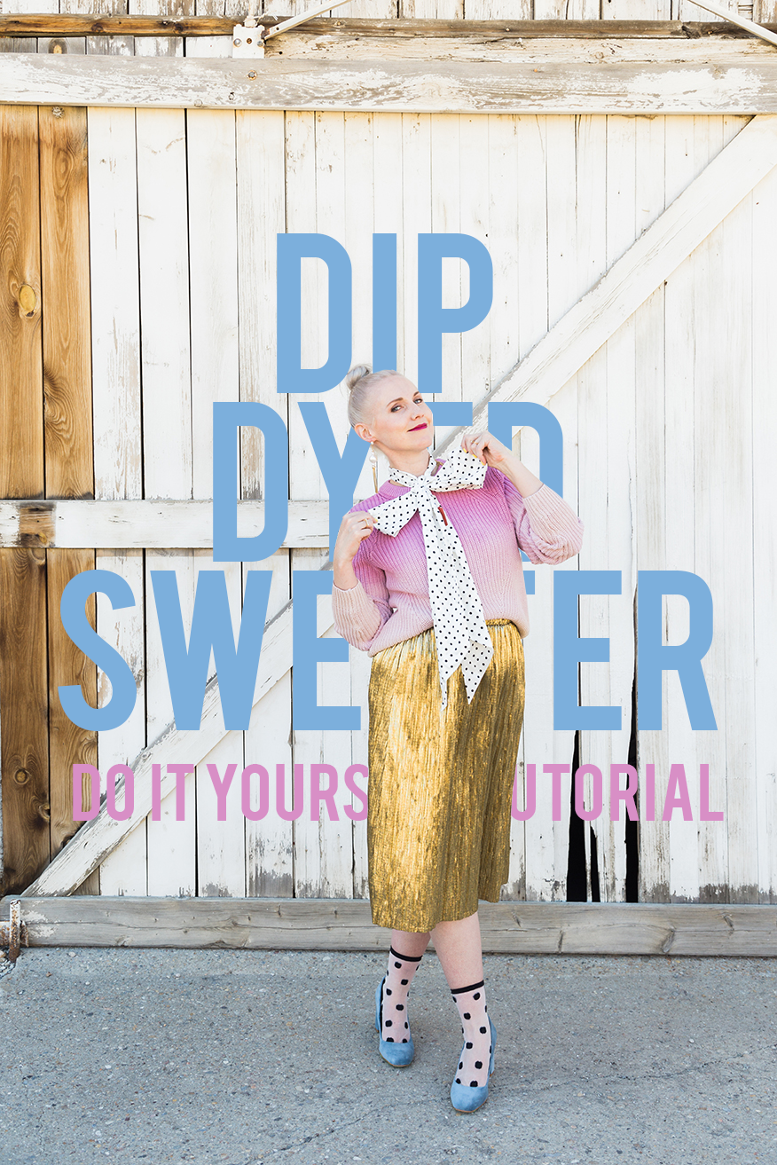 dip dye sweater tutorial