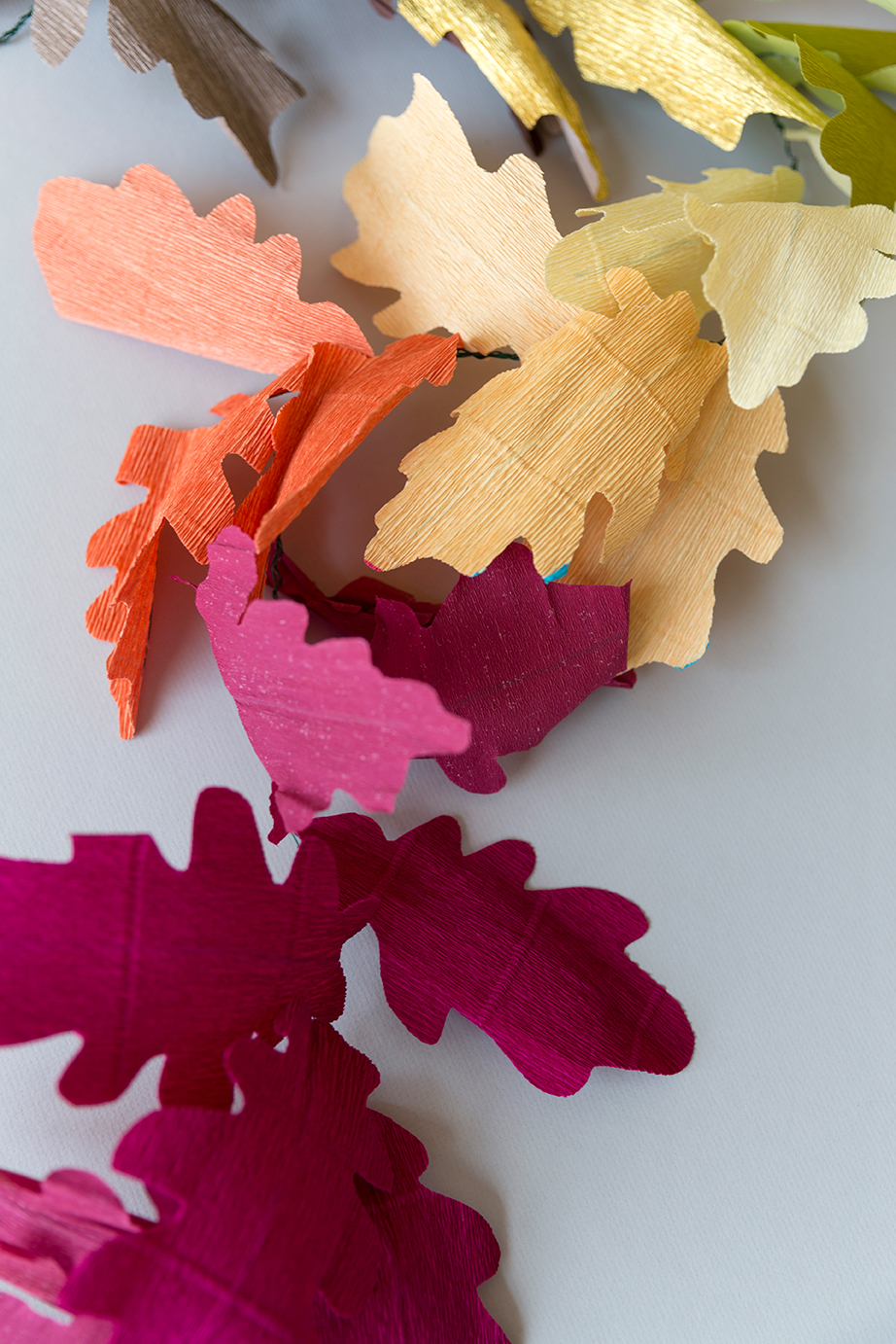 Diy Paper Leaf Fall Garland Page 2 Of 2 The House That