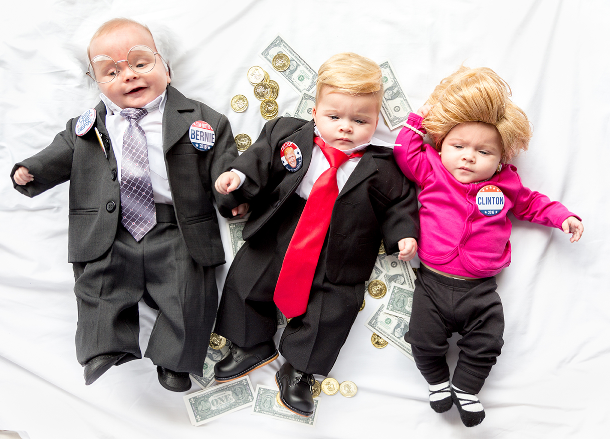 Politician baby costumes for Halloween