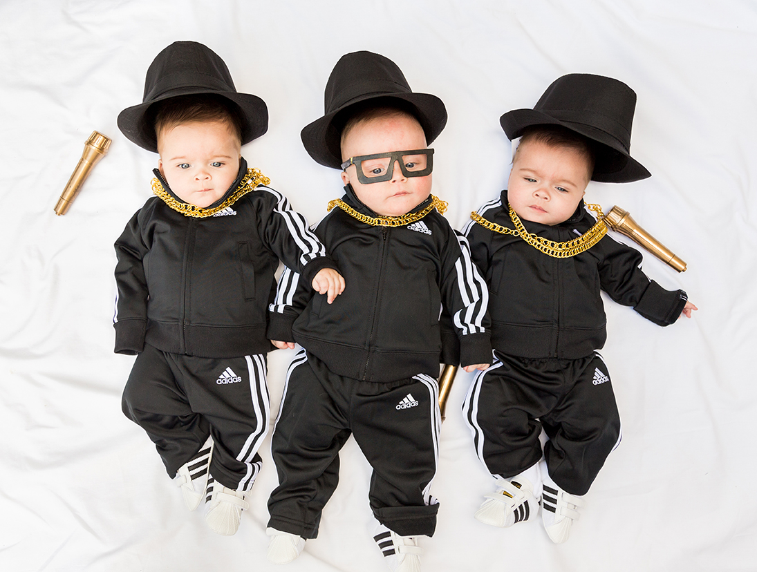 RunDMC baby costumes for Halloween