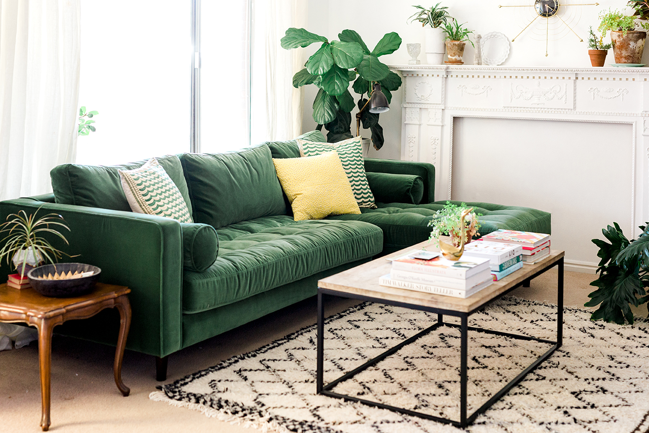 My New Green Sofa